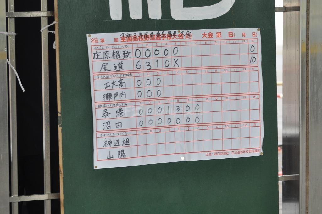 令和3年度 春季広島県高等学校野球大会 2021年4月18日 みよし運動公園野球場模様