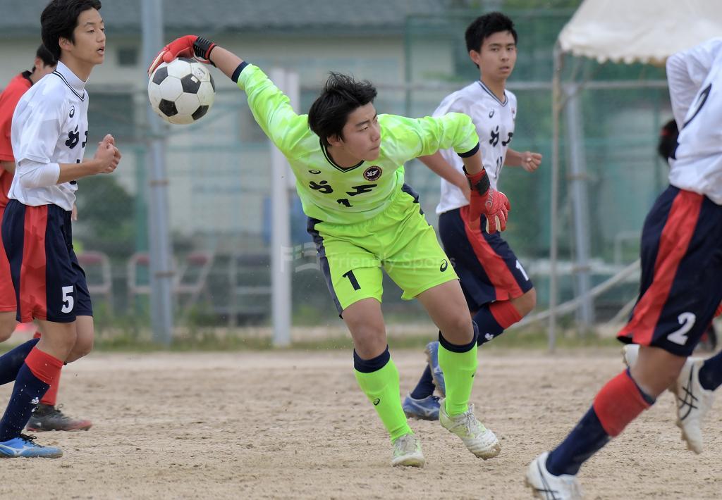 国泰寺 vs 安西 高校総体サッカーの部(広島地区予選)