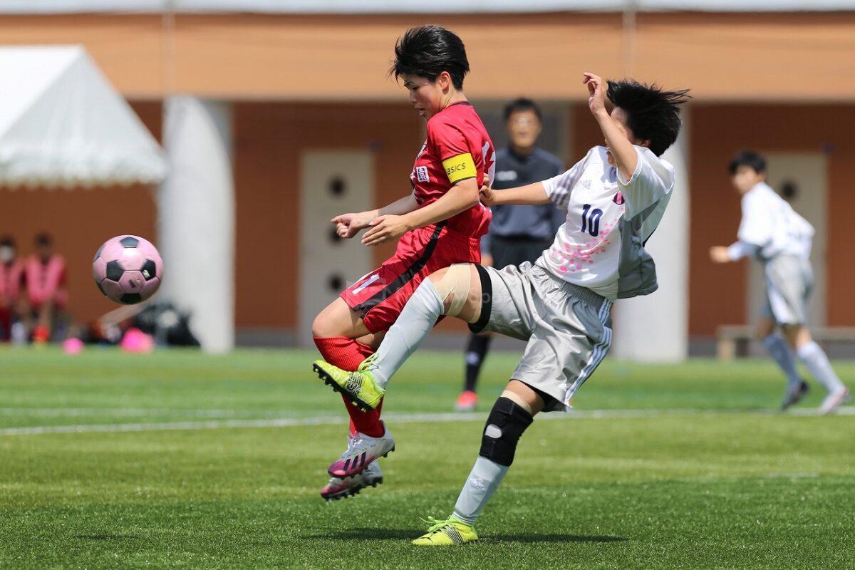 山陽女子学園 vs 山陽                                                         高等学校総合体育大会 サッカー女子の部