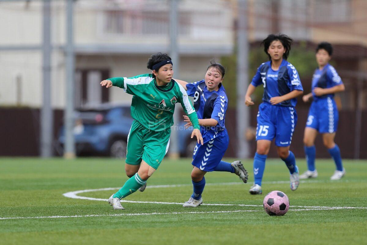 AICJ vs 広島文教                                                              高等学校総合体育大会 サッカー女子の部