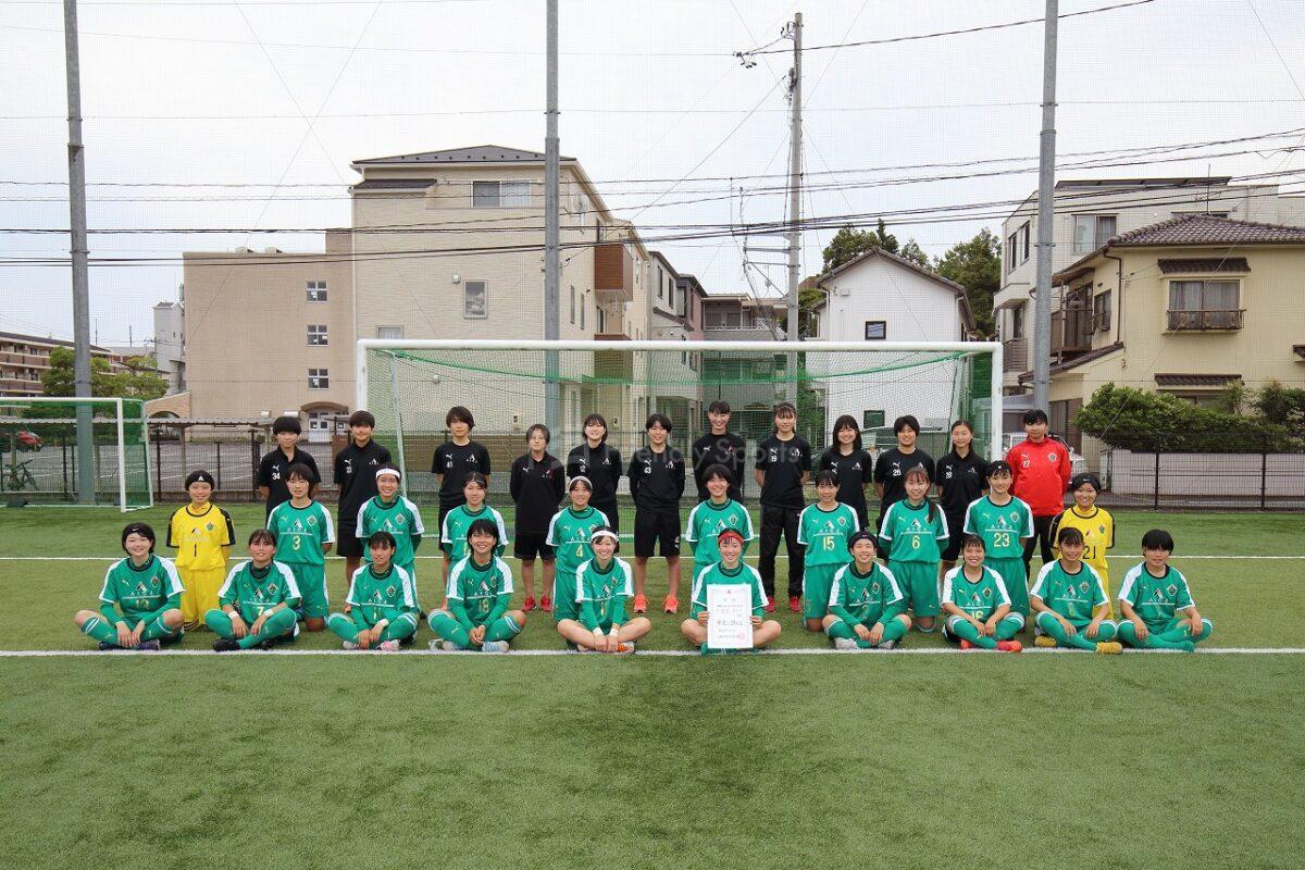 広島県高等学校総合体育大会サッカー女子の部 大会最終日 優勝 AICJ