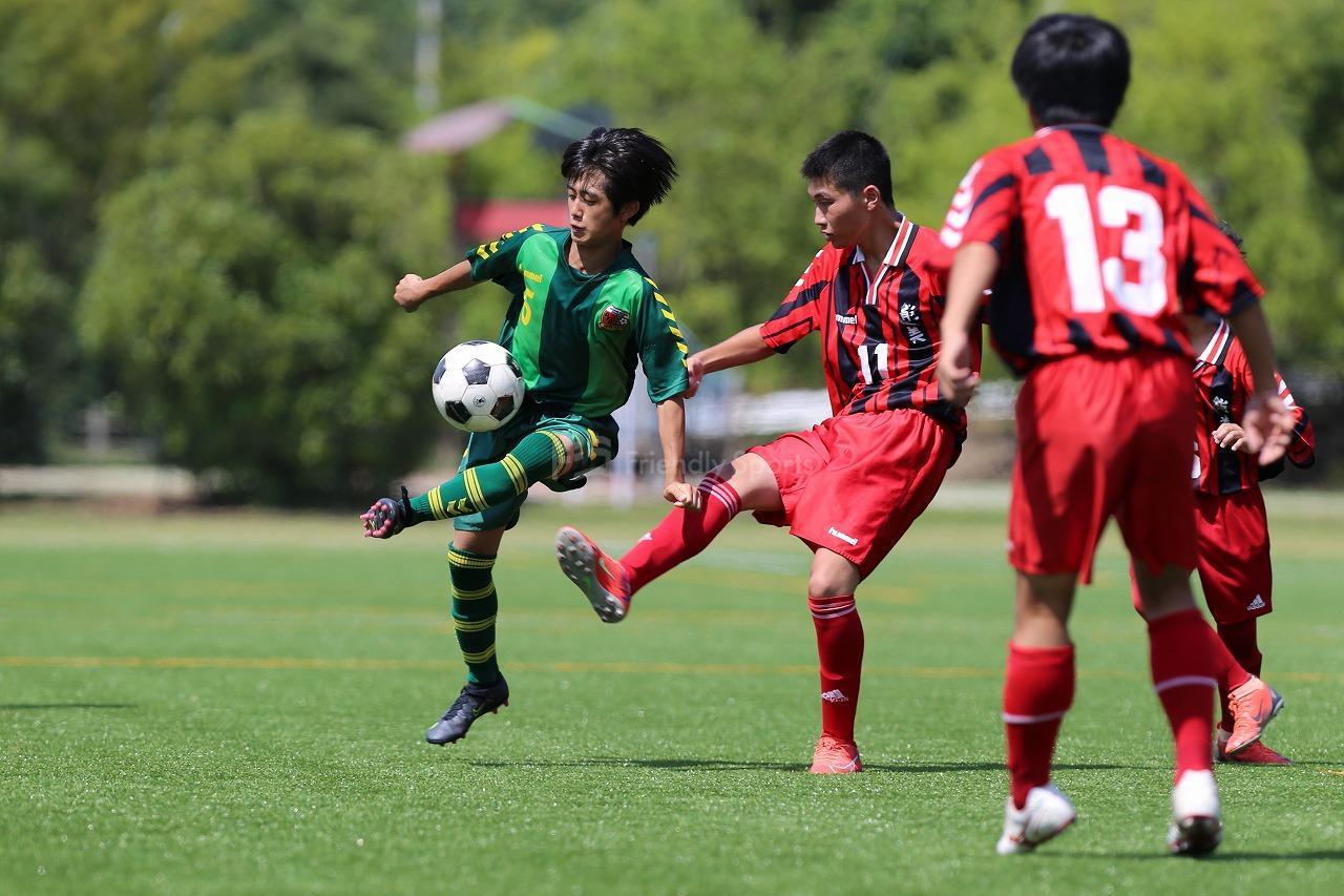 能美  vs  府中緑ヶ丘                    安芸郡・江田島市中学校サッカー夏季大会