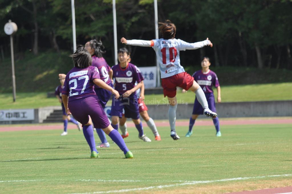広島県女子サッカー選手権大会 ディアヴォロッソ広島  VS  福山ローザスレディース 試合模様1!