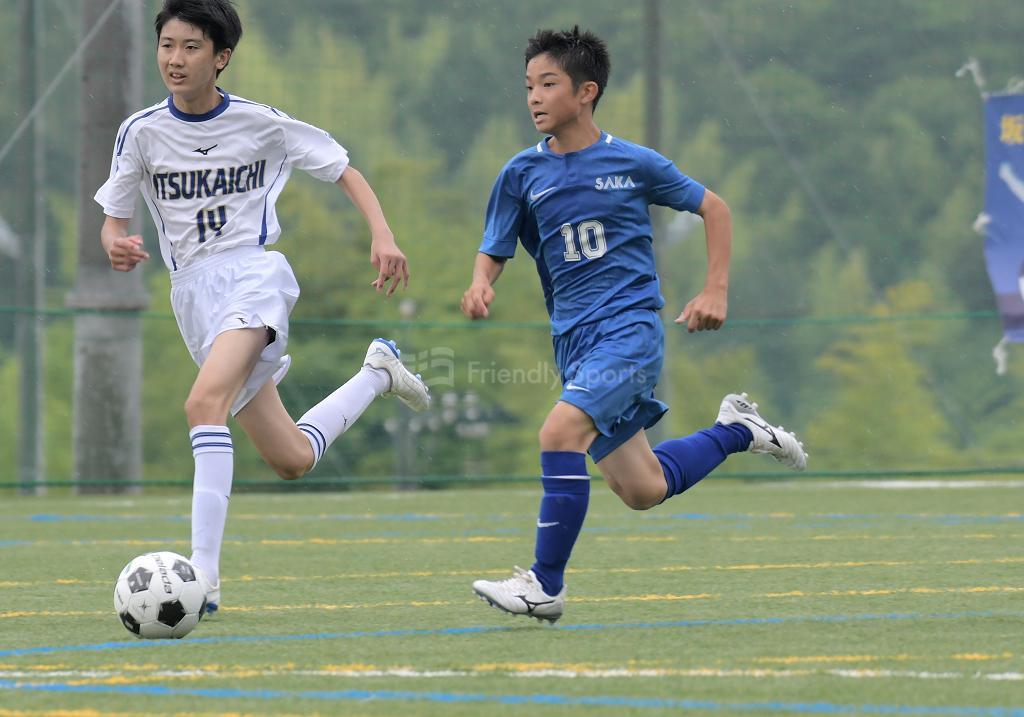 坂中 vs 五日市中 (1回戦)広島県中学校サッカー選手権
