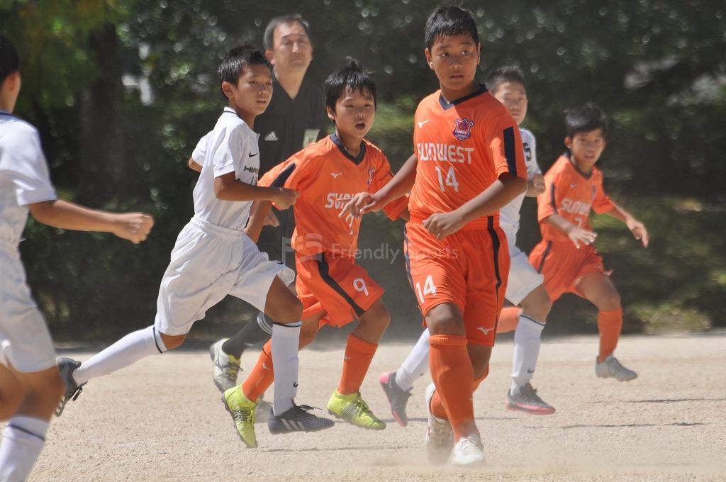 第16回広島オータムサッカー大会 広島支部 サンウエスト VS JFC 試合模様!
