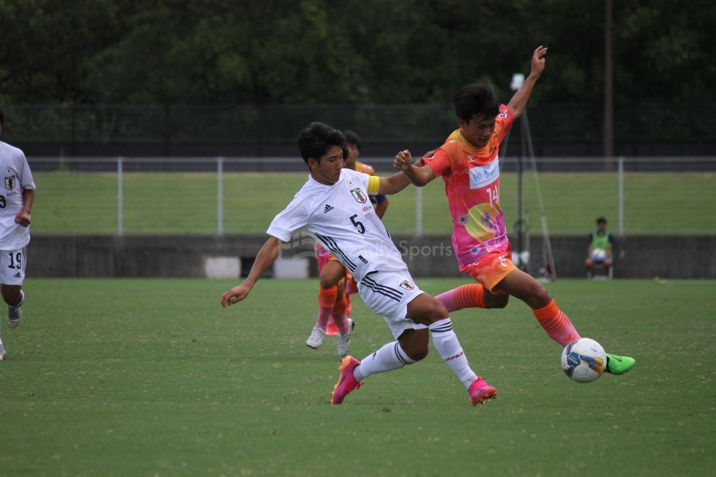 U-17日本代表 vs 広島県高校選抜 試合模様①