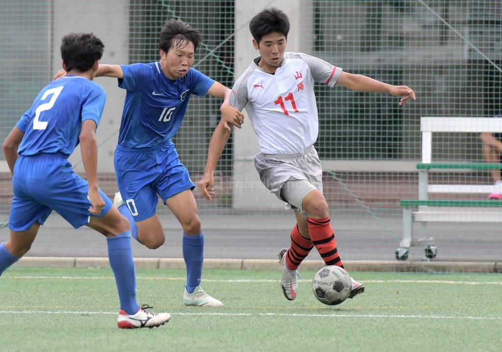山陽 vs 海田 高校サッカー選手権(2回戦)