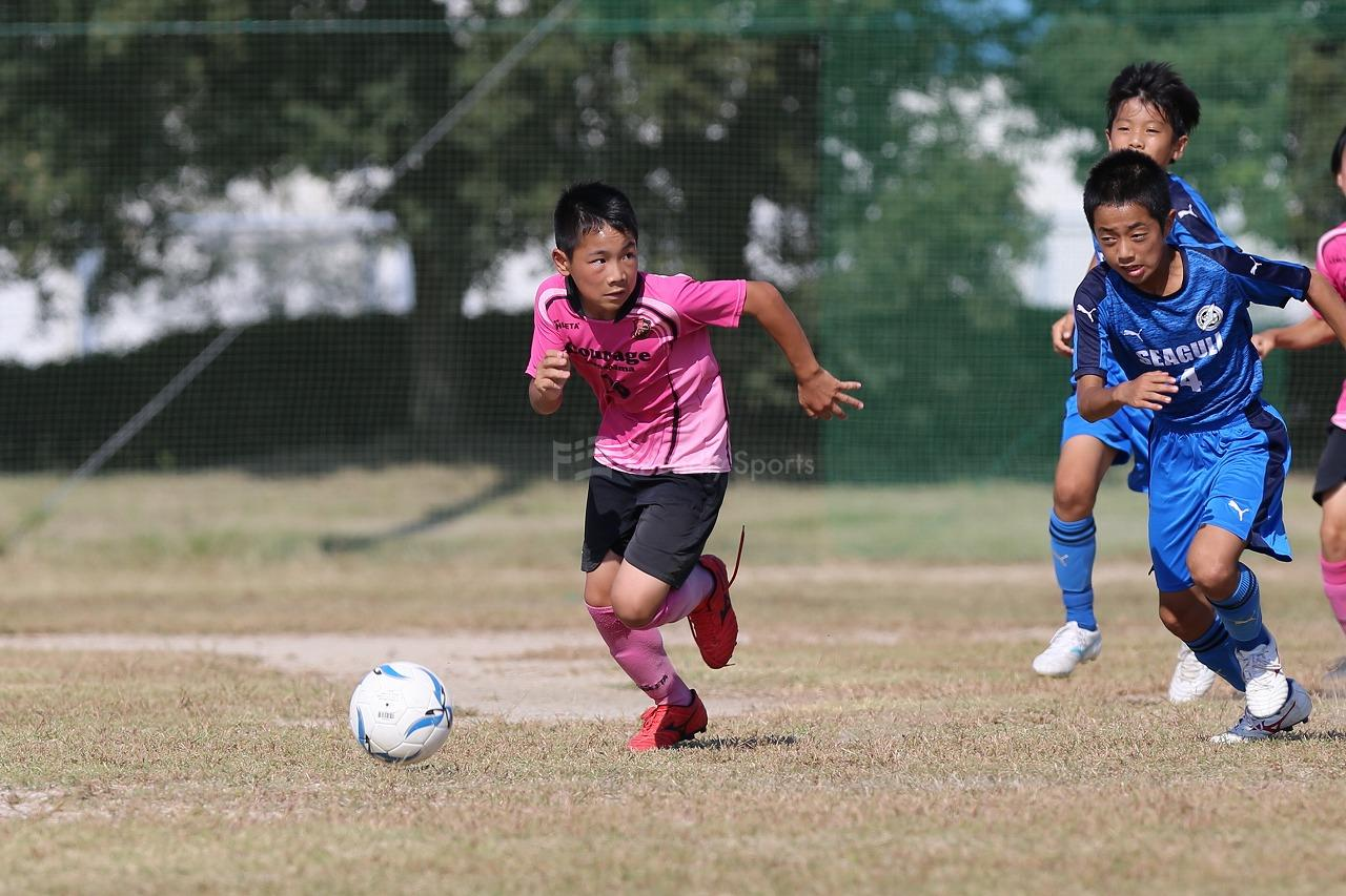 シーガル vs クラージュ           Uー12サッカー選手権大会 広島支部予選